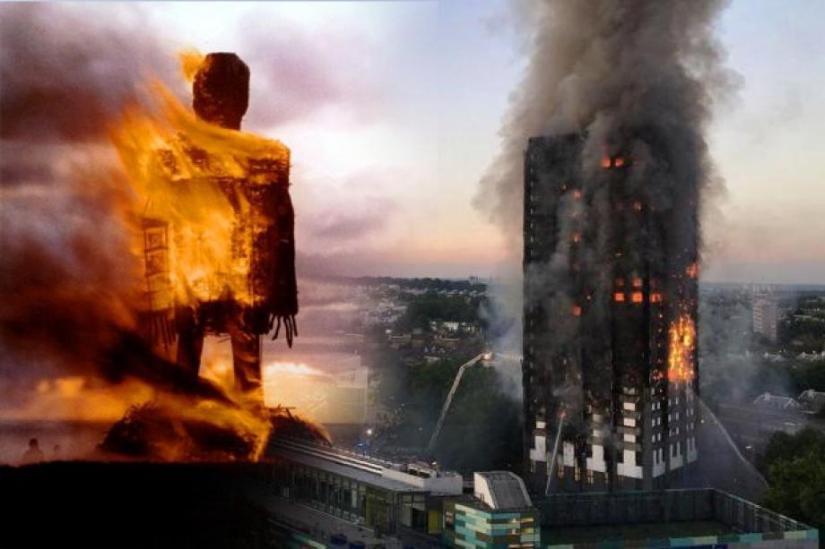 La Tour Infernale à Londres:  Grenfell Tower, incendie accidentel ou un rituel satanique avec sacrifices humains demasse?